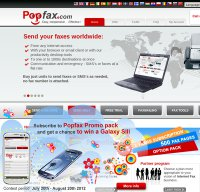 popfax.com screenshot