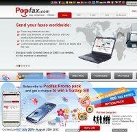 popfax.com screenshot