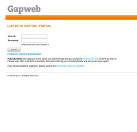 portal.gap.com screenshot