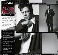 prada.com screenshot