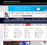 premierleague.com screenshot