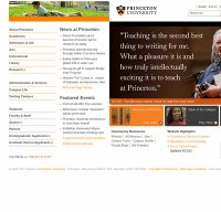 princeton.edu screenshot