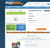 prizerebel.com screenshot