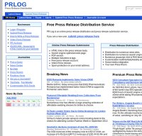 prlog.org screenshot
