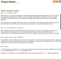 projecteuler.net screenshot