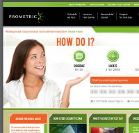 prometric.com screenshot