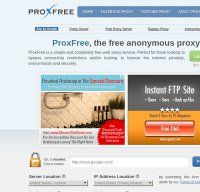 proxfree.com screenshot