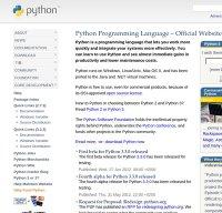 python.org screenshot