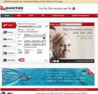qantas.com.au screenshot