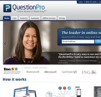 questionpro.com screenshot