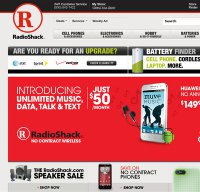 radioshack.com screenshot