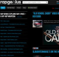 rapgenius.com screenshot