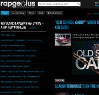 rapgenius.com screenshot