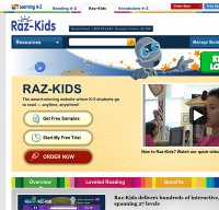 raz-kids.com screenshot