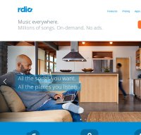 rdio.com screenshot