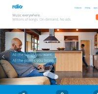 rdio.com screenshot