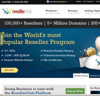 resellerclub.com screenshot