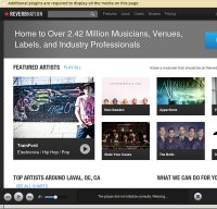 reverbnation.com screenshot