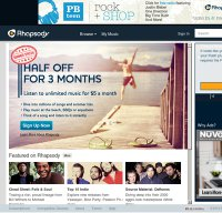 rhapsody.com screenshot