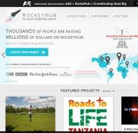 rockethub.com screenshot