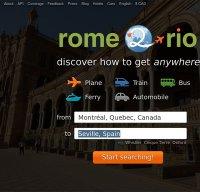 rome2rio.com screenshot