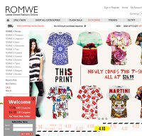 romwe.com screenshot