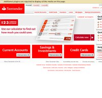 santander.co.uk screenshot