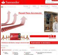 santander.com.mx screenshot