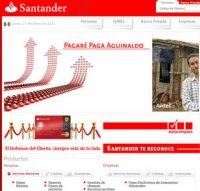 santander.com.mx screenshot