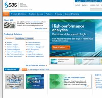 sas.com screenshot