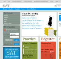 sat.collegeboard.org screenshot