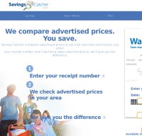 savingscatcher.walmart.com screenshot