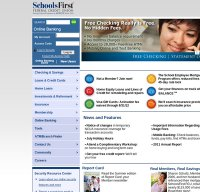 schoolsfirstfcu.org screenshot