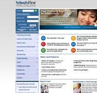 schoolsfirstfcu.org screenshot