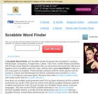 scrabblefinder.com screenshot