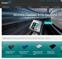 seagate.com screenshot