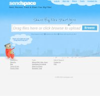 sendspace.com screenshot