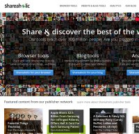 shareaholic.com screenshot