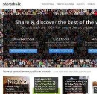 shareaholic.com screenshot