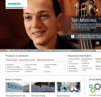siemens.com screenshot