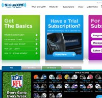 siriusxm.com screenshot
