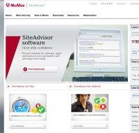 siteadvisor.com screenshot