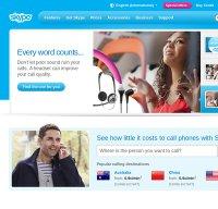 skype.com screenshot