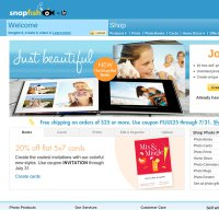 snapfish.com screenshot