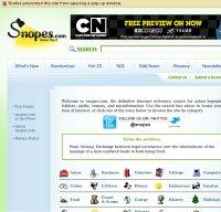 snopes.com screenshot