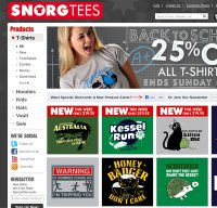 snorgtees.com screenshot