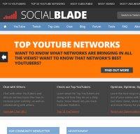socialblade.com screenshot