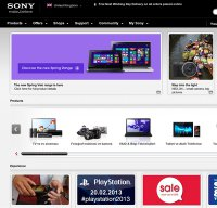 sony.co.uk screenshot