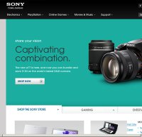 sony.com screenshot