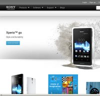 sonymobile.com screenshot
